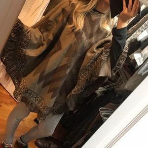 Brown Indian looking poncho
